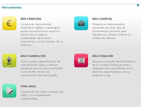 área de herramientas